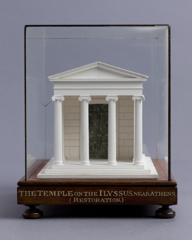 Model of the ancient Greek Ionic temple on the Illisus, near Athens, 'restored', c.1800-1834, plaster of Paris. (Photo: © Sir John Soane's Museum, London)