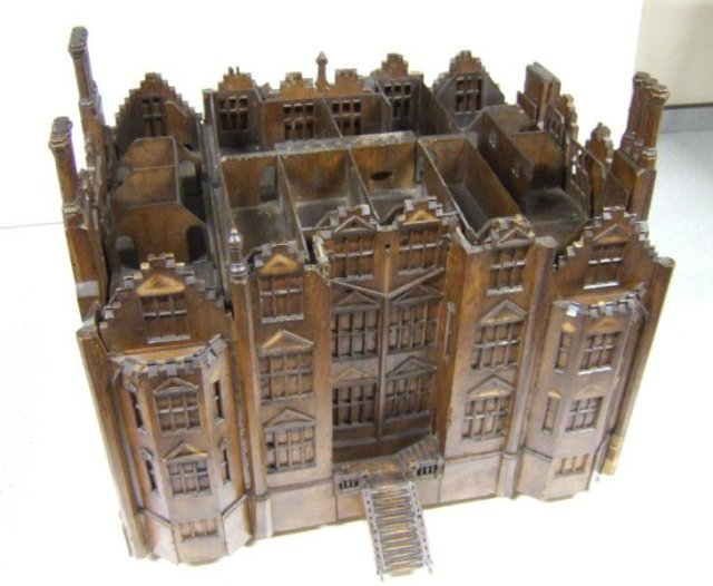 Quidenham Hall, Norfolk - architectural model of c.1606 (Norwich Museum Service)