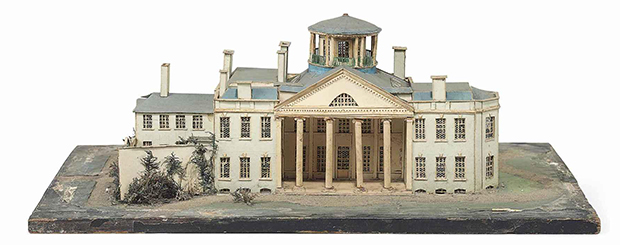 A William IV Cut-Card Model of an Unidentified Mansion, 1831 by John Bellamy (Image © Christie's - Sale of the Collection of Professor Sir Albert Richardson, P.R.A., Sep 17, 2013)